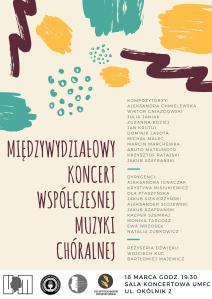 koncert 18.03 chóralny umfc