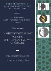 Plakat - koncert miedzywydzialowy umfc